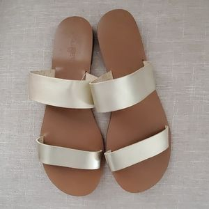 J. Crew Gold Sandal size 9 New without tag